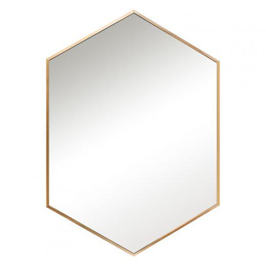 "24"" x 36'' Aluminum Hexagon Mirror"
