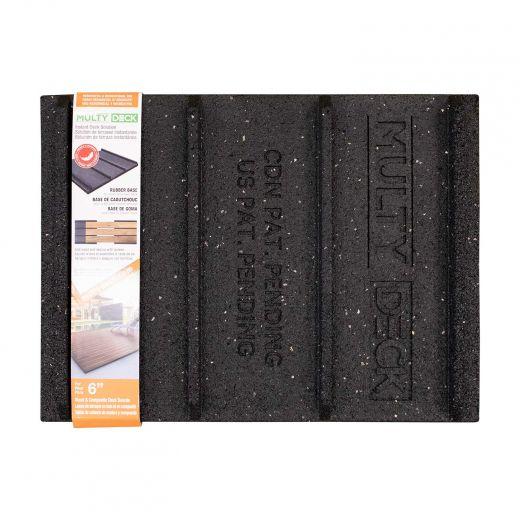 "Multy Home MultyDeck Rubber Base For 6"" Decking Boards"