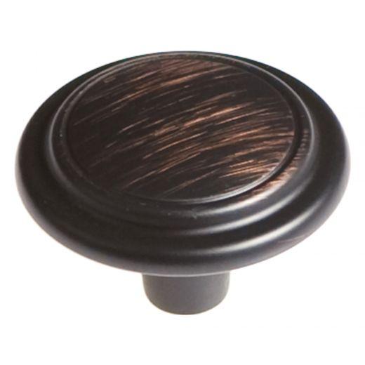 """Eclipse 1-1/4"""" Diameter Vintgage Bronze Knob"""