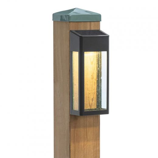 Solar Accent Lights With Cast Aluminum Seeded Glass Lens-2/P