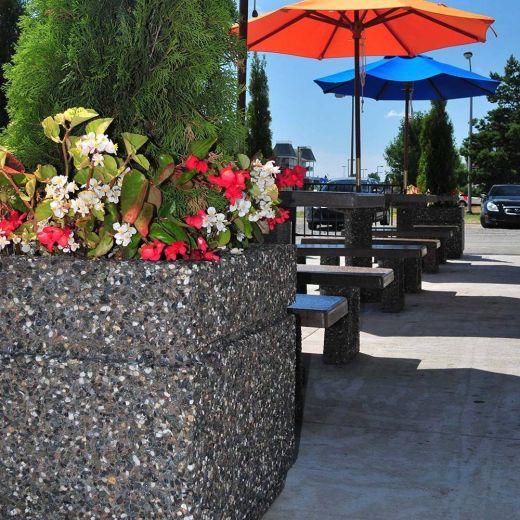 Square Concrete Flower Planter