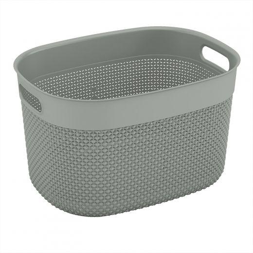 Large Purl Grey Basket 18L
