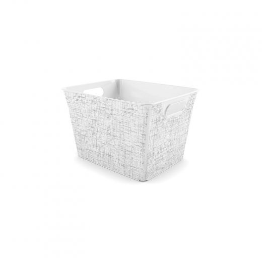V Basket Medium Tweed