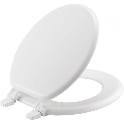 Round Enameled Wood Toilet Seat