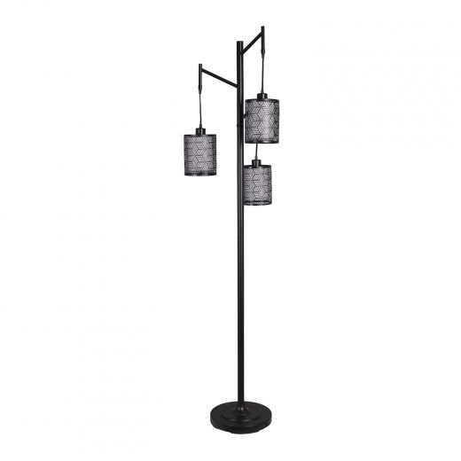 """71.5"""" Julia 3 Head Floor Lamp Matte Black"""