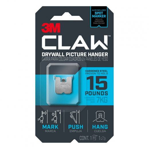 CLAW Drywall Picture Hanger 15 lb 1 hanger, 1 marker