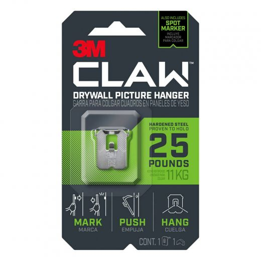 CLAW Drywall Picture Hanger 25 lb 1 hanger, 1 marker