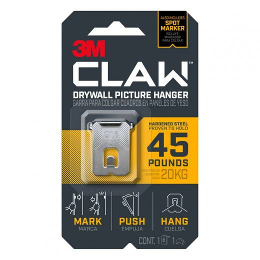 CLAW Drywall Picture Hanger 45 lb 1 hanger, 1 marker