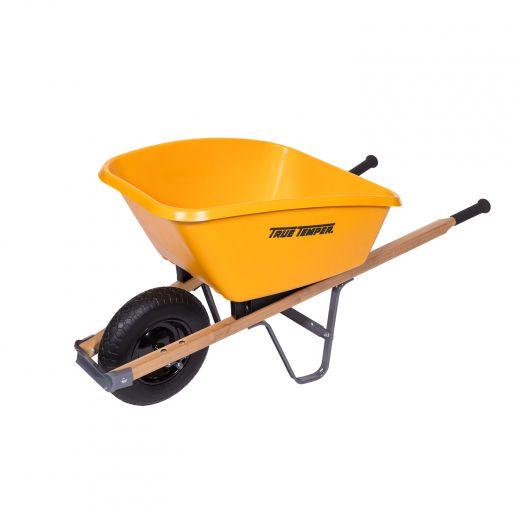 5 CuFt Heavy Duty Poly Tray Wheelbarrow