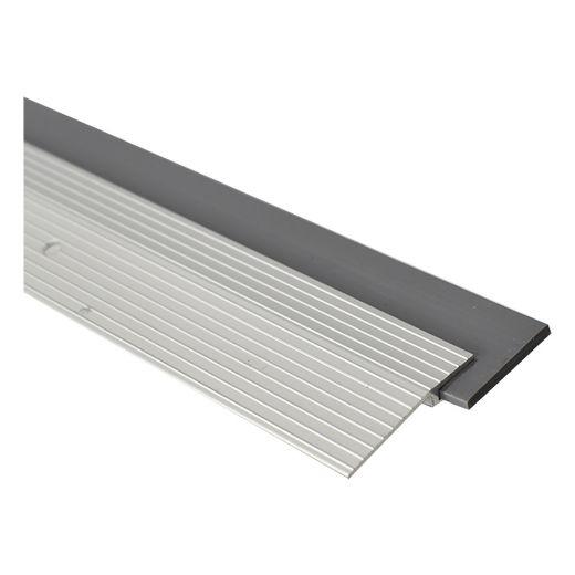 """Aluminum Door Sweep With Rubber Insert 36""""-Silver"""