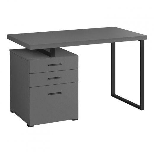 Modern 3 Storage Drawers Computer Desk