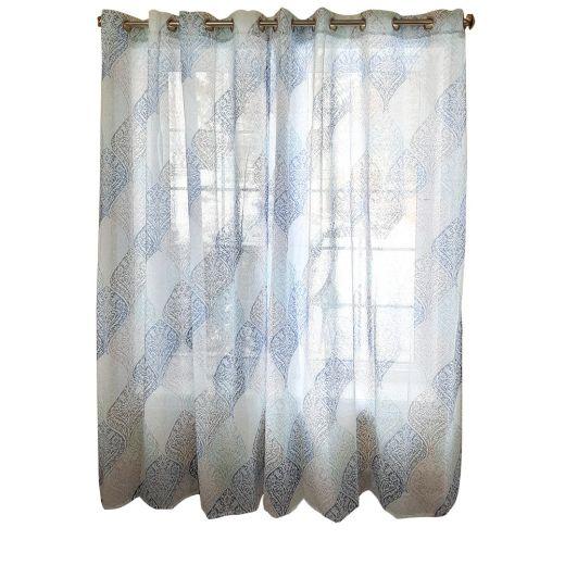 "52"" x 84"" Printed Faux Linen Drapery Panel"