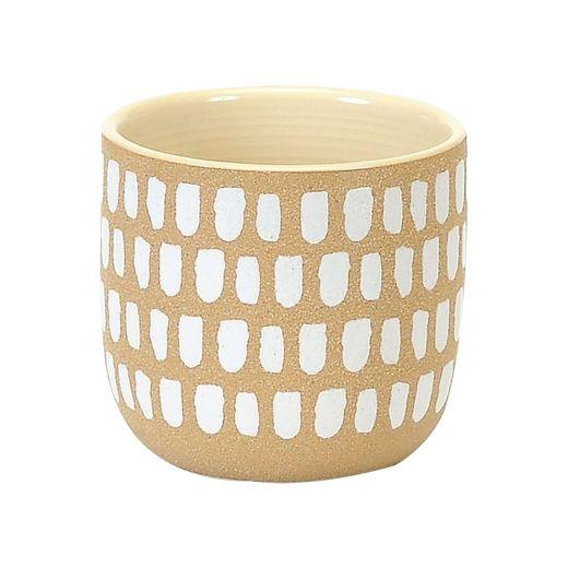 """4.5"""" Painted White Spots Pot"""