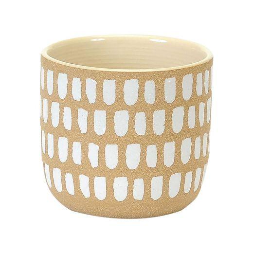 """6"""" Painted White Spots Pot"""