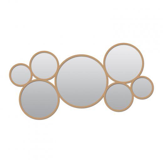 """15"""" x 33"""" Circle Cluster Metal Mirror"""