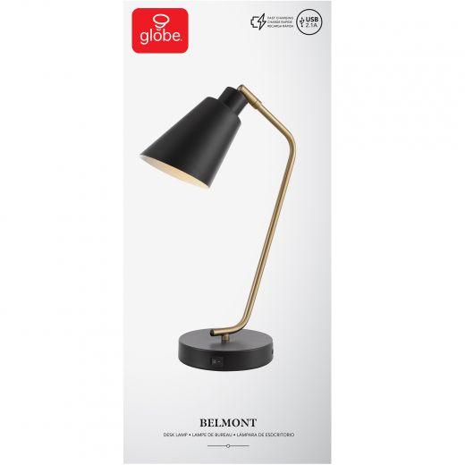 "17"" Belmont Desk Lamp With USB Port"