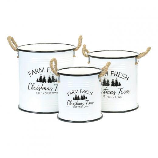 "13.75"" Farm Fresh Christmas Pot"