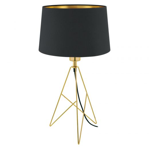 """Camporale 22"""" Black And Gold Table Lamp"""