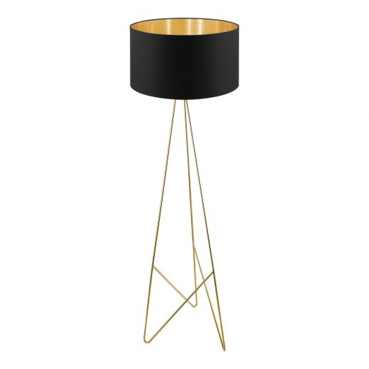 """Camporale 60"""" Black And Gold Floor Lamp"""