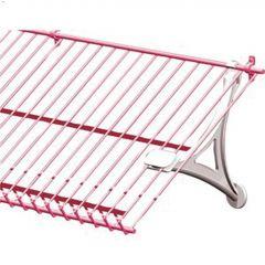 "6-1/8"" White Plastic Wire Shelf Shoe Support Bracket-1/Pack"