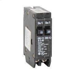 2 Pole (1) 15 A (1) 20 A Type DNPL Plug-In Circuit Breaker