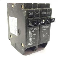 4 Pole (2) 15 A (1) 20 A Type DNPL Plug-In Circuit Breaker