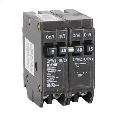 4 Pole (2) 15 A (1) 40 A Type DNPL Plug-In Circuit Breaker