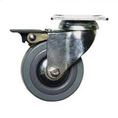 "2"" Gray Wheel G1 Series Swivel Caster With Brake"