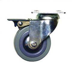 "3"" Gray Wheel G1 Series Swivel Caster With Brake"