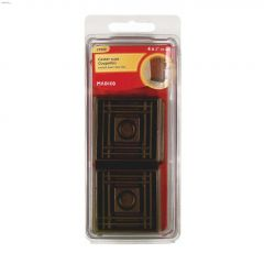 "1-5/8"" Brown Smooth Rubber Square Cup"