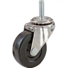 """3"""" Black Wheel Threaded Stem Caster"""