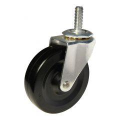 """4"""" Black Wheel Threaded Stem Caster"""