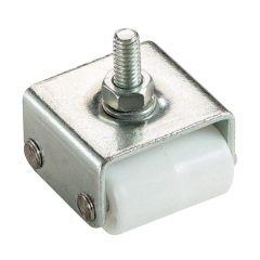 """7/8"""" White Wheel Threaded Stem Caster"""