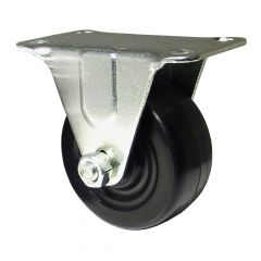 "2"" Black Soft Rubber Wheel Rigid Caster"