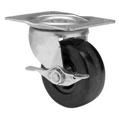 "2-1/2"" Black Wheel Swivel Caster With Side Brake"