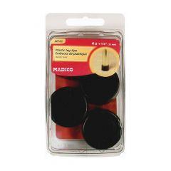 "1-1/4"" Black Plastic Leg Tip-4/Box"