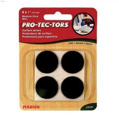 "1"" Brown Round Self-Adhesive Felt Pad"