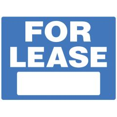 "18"" x 24"" White On Blue For Lease Heavy Duty Sign"