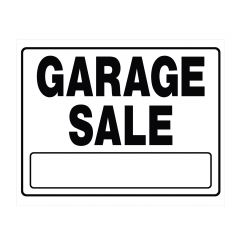 "20"" x 24"" Black On White Garage Sale Large Corrugated Sign"