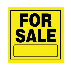 "11"" x 11"" Black On Bright Yellow For Sale Heavy Duty Sign"
