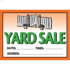 "10"" x 14"" Yard Sale Vibrant Sign"