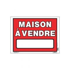 "12"" x 16"" White On Red Maison À Vendre Corrugated Sign"