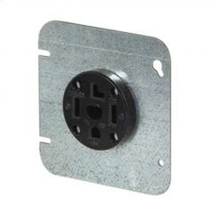 30 A Black Straight Blade Dryer Power Receptacle