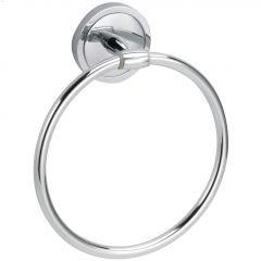 Yates Polished Chrome Single Towel Ring
