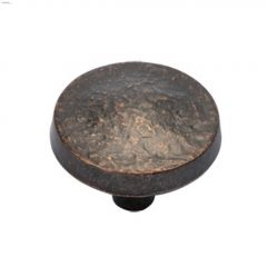 "1-1/4"" Dark Antique Copper Bedrock Cabinet Knob"