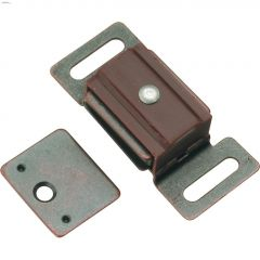 25 mm x 60 mm Statuary Bronze Functional Magnetic Catch
