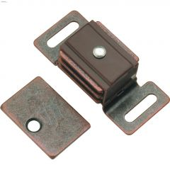 25 mm x 60 mm Statuary Bronze Double Magnetic Catch