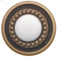 "1-1/4"" White Cavalier Door Knob"