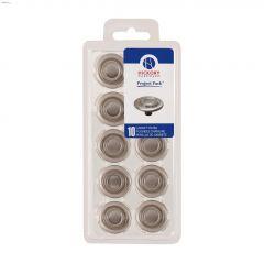 "1-3/8"" Satin Nickel Cabinet Knob-10/Pack"