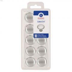 "1-1/8"" Satin Nickel Visual Packs Cabinet Knob-10/Pack"